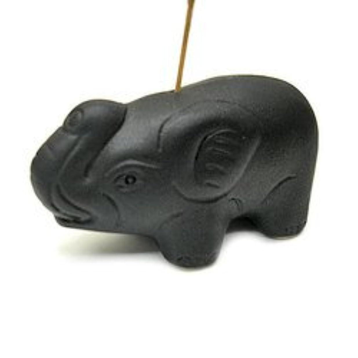 素晴らしい良い多くの果てしない想像力豊かな象さんのお香立て <黒> インセンスホルダー/スティックタイプ用お香立て?お香たて アジアン雑貨
