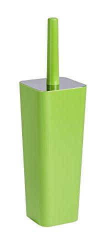 WENKO 22467100 WC-Garnitur Candy - geschlossener WC-Bürstenhalter, 10 x 38,5 x 10 cm, grün