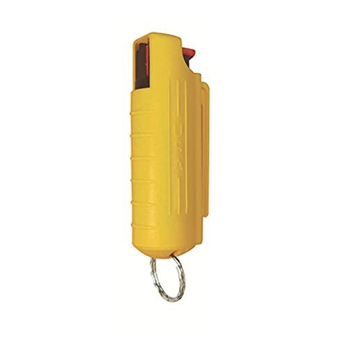 Cacowap Coquille De Pulvérisation Dauto-défense, Coque De Pulvérisation De Poivre avec Porte-clés, Coque De Pulvérisation De Poivre Facile à Utiliser