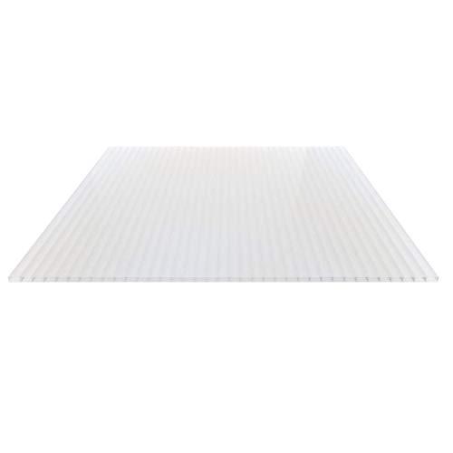 Stegplatte | Hohlkammerplatte | Doppelstegplatte | Material Acrylglas | Breite 980 mm | Stärke 16 mm | Farbe Opal Weiß