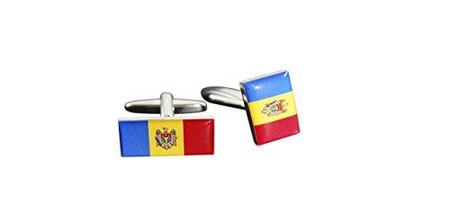 Flaggenfritze® Manschettenknöpfe Fahne / Flagge Moldawien