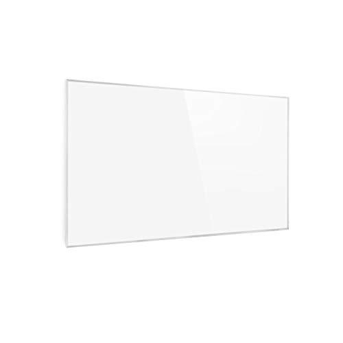 Klarstein Wonderwall - Calefactor bajo consumo panel, Panel radiante con tecnología cristal de carbono, Calefacción eléctrica bajo consumo programable, Autoapagado, 50 x 90 cm, 450 W, Blanco floral