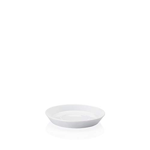 Arzberg Tric Weiss Kaffee-Untertasse, Porzellan, White, 15.4 x 15.4 x 9 cm