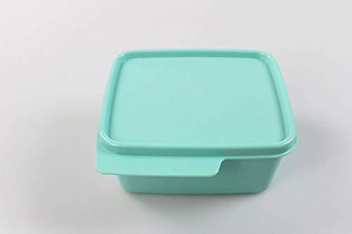 Tupper Tupperware - Fiambrera, color turquesa y verde menta para llevar en la esquina, para niños y niñas, para la guardería, la escuela, a prueba de fugas