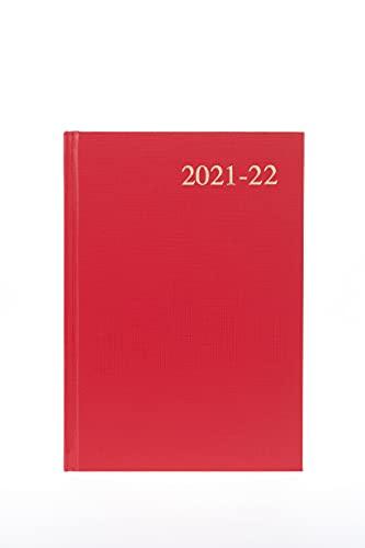 Collins Essential A5 Week te bekijken 2021/22 Mid-Year Diary - Rood