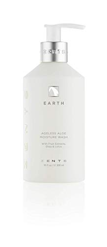 Zents Ageless Aloe Moisture Body and Hand Wash (Earth), Cleanse and Nourish Dry Skin with Shea Butter and Organic Aloe 10 fl oz / 300 ml