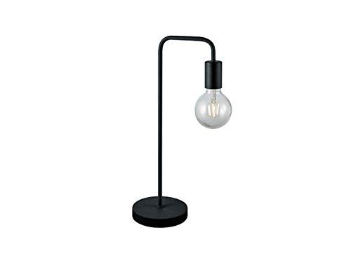 Preisvergleich Produktbild Wirkungsvolle LED Tischleuchte im Retro Style aus Metall in schwarz matt mit großem Filament LED,  Höhe 51cm