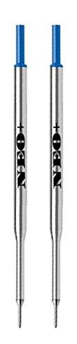 NEO+ Set di 2 ricariche per penna a sfera compatibili con PaperMate (INCHIOSTRO BLU)