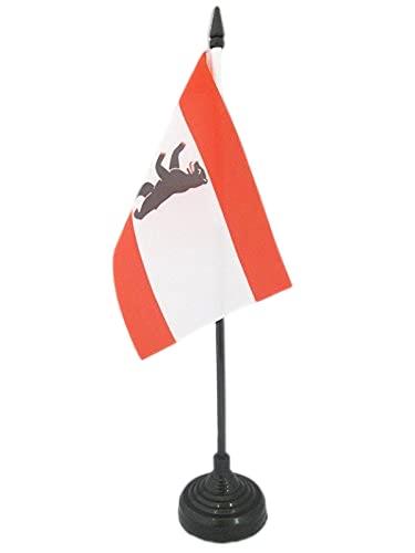 AZ FLAG TISCHFLAGGE Berlin 15x10cm - Berlin TISCHFAHNE 10 x 15 cm - flaggen