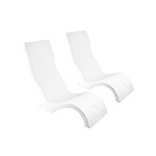 Ledge Lounger in-Pool Chair for 0-9 in. of Water (Set of 2, White)