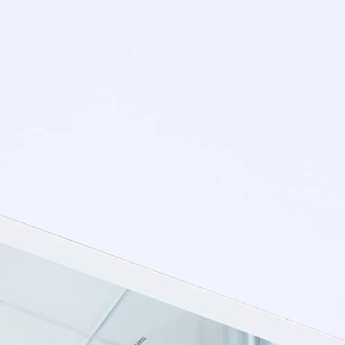 不二貿易コレクションケースフィギュアケース4段高さ120cmホワイト背面ミラー付きロータイプ97338