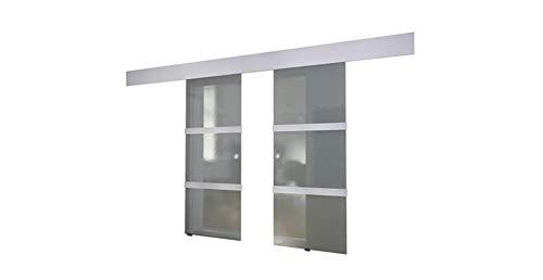Zerone- Glasschiebetür,Doppel glasschiebetür Schiebetür für zu Hause, Glasschiebetür Wohnzimmer Familienbad Schiebetür 205 x 75 cm