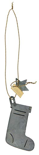 Weihnachts-Strumpf mit goldfarbigem Draht von Ib Laursen