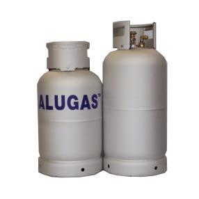 Toploo Multiventil Alugas Gas-Tankflasche Größe 14kg (33 Liter)