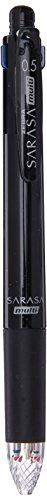 Zebra Multi Function Sarasa 4?S Black/Red/Blue/Green Ink 0.5mm Ballpoint Pen, 0.5mm Mechanical Pencil, Black Body, J4SA11-BK