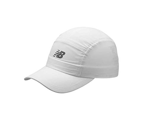 New Balance Men's and Women's 5-Panel Athletic Performance Hat V3.0, Moisture Wicking Adjustable Cap White