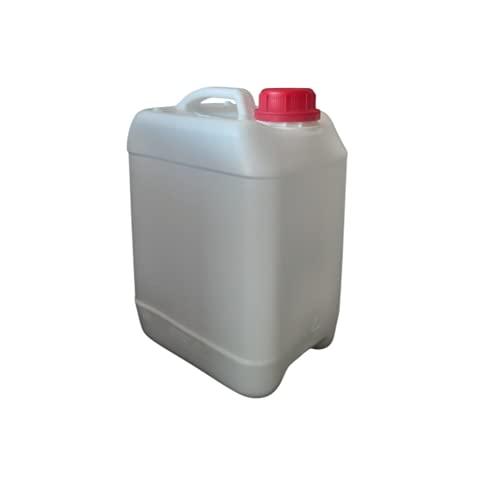 Garrafa bidón 5 litros Blanca Apilables Homologado ADR Boca Ancha Agua Gasolina químicos depósito Aire Acondicionado Camping Furgoneta Camper