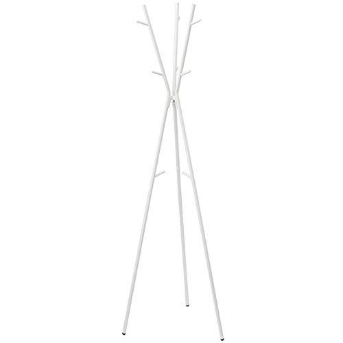 MQH Perchero Abrigo Rack Stand Nordic Bedroom STEPE Step Rack Multifuncional y Simple Spoder Holder Holder Perchero de Pie (Color : White)