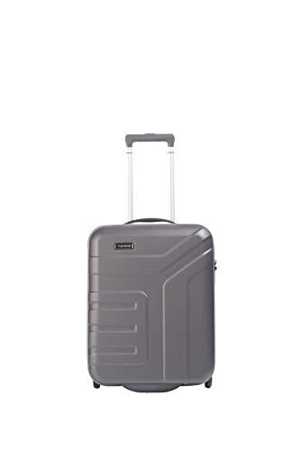 travelite 2-Rad Handgepäck Koffer mit TSA Schloss erfüllt IATA Borgepäck Maß, Gepäck Serie VECTOR: Robuster Hartschalen Trolley in stylischen Farben, 072007-04, 55 cm, 44 Liter, anthrazit (grau)
