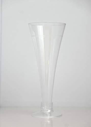 Generico Fanny Flute Base Trasparente, diam. 70x165 mm, capacità 200 CC, 40 Pezzi, Linea Food Idea