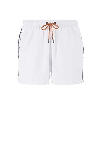 BOSS Herren Thornfish Badeshorts aus schnelltrocknendem Gewebe mit gestricktem Logo-Bund