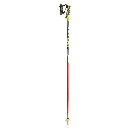LEKI Bâtons de Ski pour Homme Worldcup SI TBS E Rouge Antracite/Blanc/Argent/Noir/Jaune 115