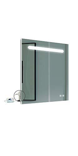 APLIKE BATHROOM LIGHTING Espejo para el baño 60x80 cm, 5700k, con antivaho...