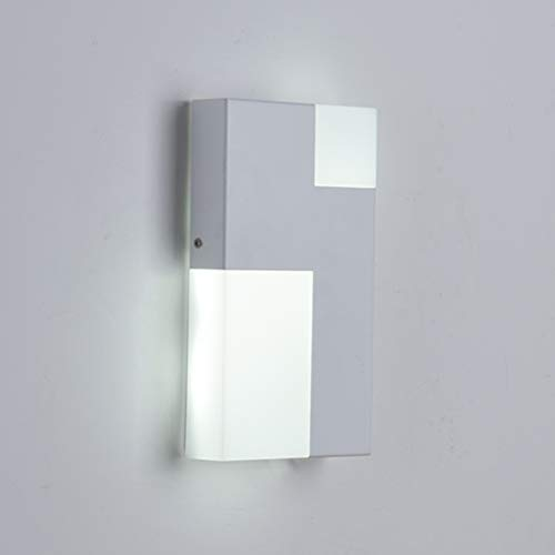 LED Wall Lamp Glow Up And Down Indoor Outdoor Waterproof Bracket Lights Porch Living Room Hotel Hallway Sconces Light Wall Wash Lights (Color : White)