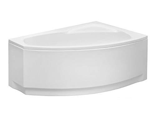 Aqualuxbad Badewanne | Wannen 140 x 80 cm Rechtseinbau inkl. Wannenfuß und Ablaufgarnitur, Schürze:ohne Schürze