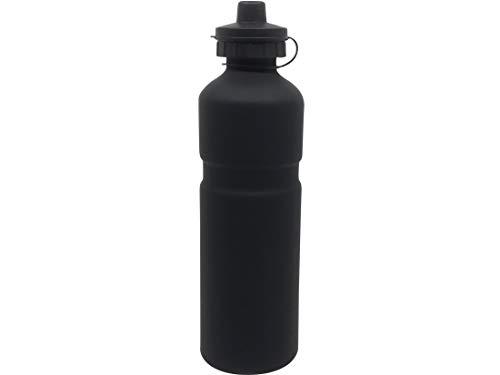 JABs Leichte Schwarz Matte Aluminium Trinkflasche Rennrad 750 ml Alu Flasche Fahrrad mit Schnellverschluss