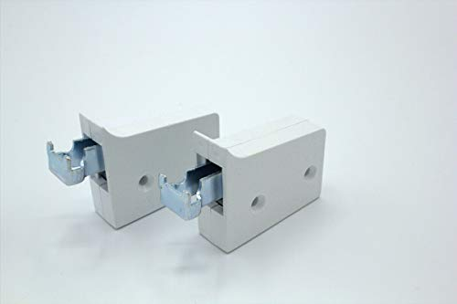 2x Schrankaufhänger, Höhenverstellbar, Kunststoff/Metall, Weiß (Zum Anschrauben)