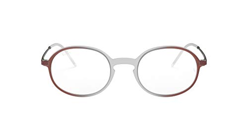 Ray-Ban 0RX7153 Monturas de gafas, Rubber Brown On Bordeaux Grad, 52 Unisex