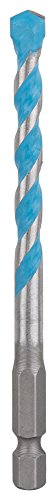 Bosch 2607002778 Multi-Purpose Drill Bits, Hex-9 Multi Construction, 7mm x 50mm x 100mm, Silver/Blue