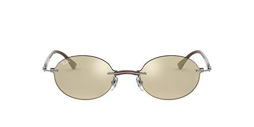Ray-Ban RB8060 Gafas, Espejo Gris Y Marr n Claro Dorado, 54 Unisex adulto