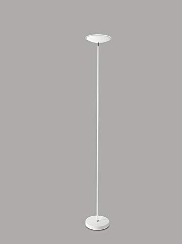 PERENZ Lampada LED a Piantana in Metallo Bianco Altezza 180 cm Diametro 25 cm Diffusore orientabile LED integrato 18W 1400 Lumen 3000K