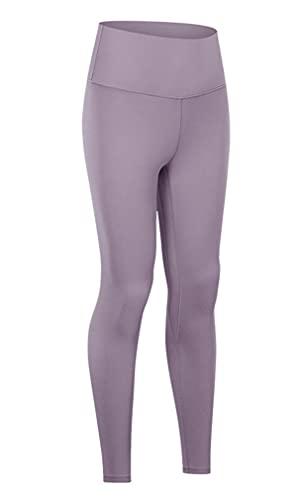 Pantalones de yoga para mujer, sensación desnuda, entrenamiento, leggings de cintura alta, gimnasio, yoga, estudio - gris - X-Large