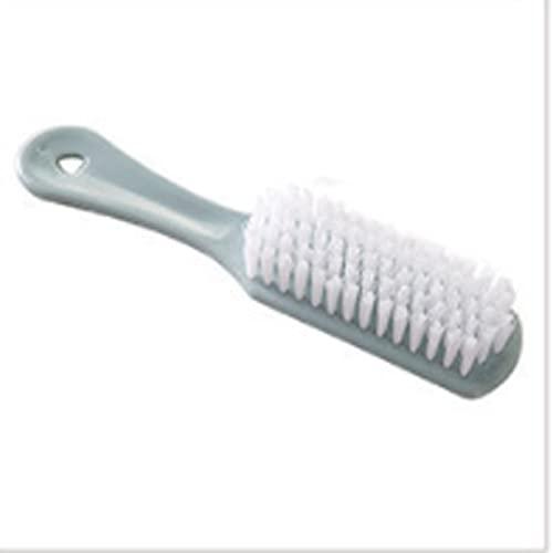 Lpiotyuxs Cepillo Cepillo de plástico para baño con Mango Largo Aplicar a los Zapatos, Ropa, para un fácil Almacenamiento (Color : Blue)