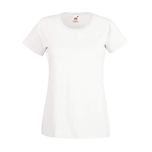 Fruit of the Loom - Polo - Manches Courtes - Femme Blanc Blanc Medium