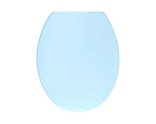 Sanwood 6164321 Abattant WC en Duroplast avec système d'abaissement automatique Bleu clair