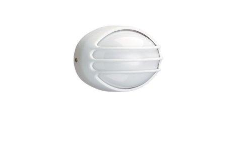 Massive 170903110 buitenlamp buitenlamp wit E27 buitenverlichting (wandlamp voor buiten, wit, aluminium, kunststof, IP44, tuin, binnenplaats, I)