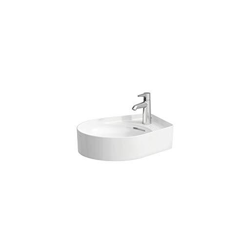 Laufen VAL Waschtisch-Schale, 1 Hahnloch, ohne Überlauf, US geschl. 500x400, Farbe: Snow (weiß matt)