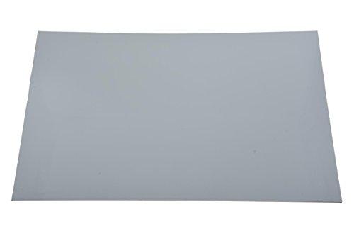 "Dopro Uncut 11""x17"" DIY Blank Guitar Bass Pickguard Material Sheet Scratch Plate Material Sheet 29x43cm White 3 Ply (WBW) (Cut Your Own Pickguard)"