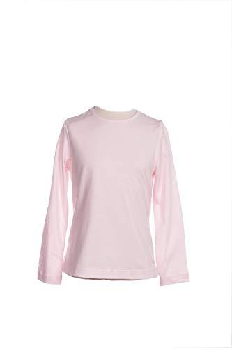 MPL Camiseta Niña Manga Larga Camiseta Básica de Punto Liso Algodon, Abrigada y Caliente para Dias de Invierno y Otoño, Uso Diario, Camiseta para Colegio
