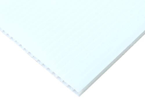 【国産5枚入】プラダンシート 巾900mm ×長1200mm 厚5mm 5枚セット (白)