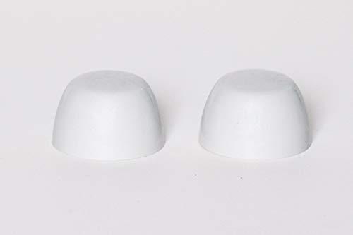 BCWHT-20 Mansfield White Toilet Bolt Caps 2/BAG