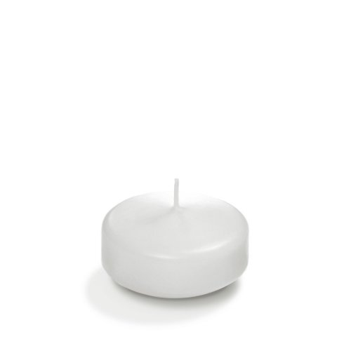 """Yummi 3"""" White Floating Candles - 3 per pack"""