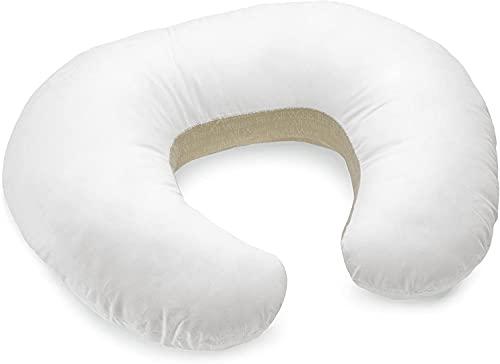 Boppy Cuscino Allattamento per Neonati 0+ Mesi, Forma Ergonomica con Inserto Miracle Middle - Cuscino e Nido Neonato per Allattamento al Seno e col Biberon, Bianco