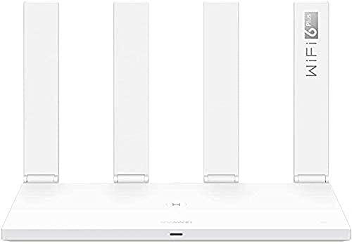 HUAWEI WiFi AX3 Quad-Core Router, WiFi 6, Geschwindigkeit bis zu 3.000 Mbit/s, Bis zu 128 Dual-Band-Geräte, 1x Gigabit WAN- & 3x Gigabit LAN-Ports, Garantieverlängerung auf 30 Monate, Weiß