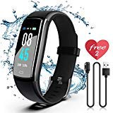 SIKADEER Fitness Tracker HR, Activity Tracker Watch with Heart Rate Monitor, IP68 Waterproof Health Tracker with Step Counter, Calorie Counter, GPS Watch for Kids, Women and Men