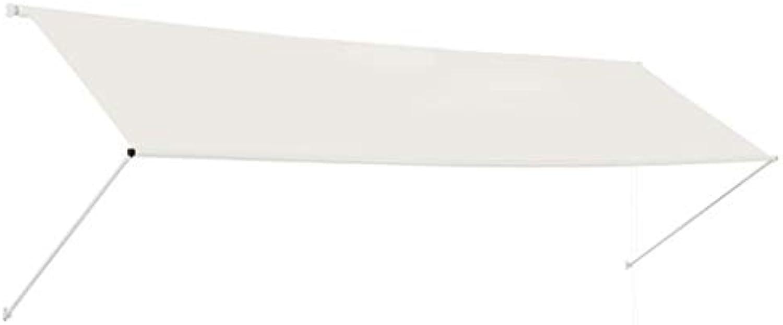 Festnight- Einziehbare Markise  Klemmmarkise  Balkonmarkise  Sonnenschutz Spannmarkise  Terrasse Markise  Creme Anthrazit Gelb und Wei Blau und Wei 400 350 300 250 200 x 150 cm